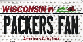 Packers Wisconsin State Background Metal License Plate Tag (Packers Fan) - $11.95