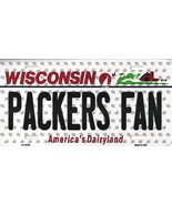 Packers Wisconsin State Background Metal License Plate Tag (Packers Fan) - $11.35