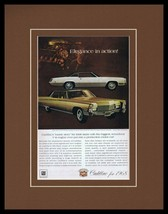 1968 Cadillac Eldorado Framed 11x14 ORIGINAL Vintage Advertisement - $41.71
