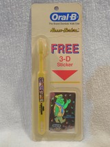 Flintstones 1991 Oral-B Fred Flintstone Toothbrush Sealed w/Free 3-D Sti... - $7.95