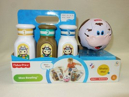 Brand New Fisher Price Moo Bowling Musical Cow Ball 6 Pins 18+mo Batteri... - $19.40
