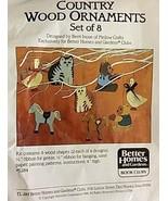 Better Homes & Gardens Kit 8 Christmas Wood Ornaments Horse Bear Cat Goo... - $16.82