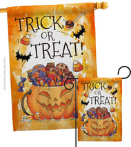 Trick or Treat Candys - Impressions Decorative Flags Set S112078-BO - $57.97