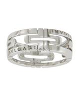 Authentic Bulgari Bvlgari  Parentesi 18K White Gold Ring Size 57 -US 8.2... - $901.17