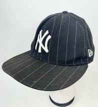 New York Yankees New Era 7 5/8 Fitted Hat PinStripe - £9.21 GBP