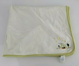VTG Gymboree 2001 Camping Tent Happy Campers Frog Trees Moon Baby Blanket - $63.35