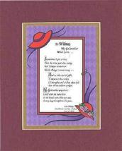 Personalized Poem for Godmothers - [To XXXX,] My Godmother, with Love Poem on 11 - $19.75