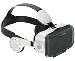 360VR Virtual Reality Box With Stereo Headset 3D VR Glasses FOV120 Degree Angle