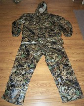 Jerzees Outdoors 3X Forest Floor Mosy Oak Camo Hunting Hooded Rain Suit - $39.59