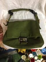 FENDI BAG Green Mamma Forever vit SAVANA Authentic laminated leather wit... - $1,399.00