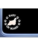 "Baby on Board Cocker Spaniel L501 6"" Sticker decal - $3.99"