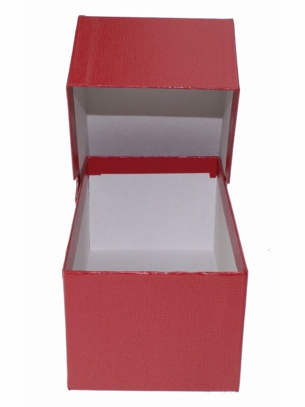 Guardhouse Modern Size Currency Storage Box, Red - 7.5 x 4.25 x 3.25 image 3