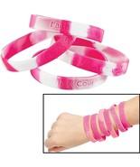 144pk Pink Ribbon Heart Breast Cancer Awareness Wristbands Hope Strength... - €18,24 EUR