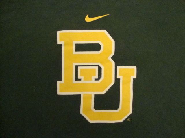 best service 01d26 4cbd8 NCAA Baylor Bears College University Fan School Student Nike T Shirt L -   15.10