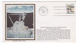 SECOND SPACE WALK EVA CONSTRUCTION HOUSTON TX DEC 1 1985 COLORANO SILK  - $2.98