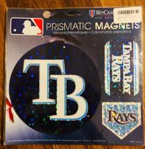 "Tampa Bay Rays MLB Prismatic Magnet Sheet Hologram 11x11"" 3 Auto RV Car - $15.74"