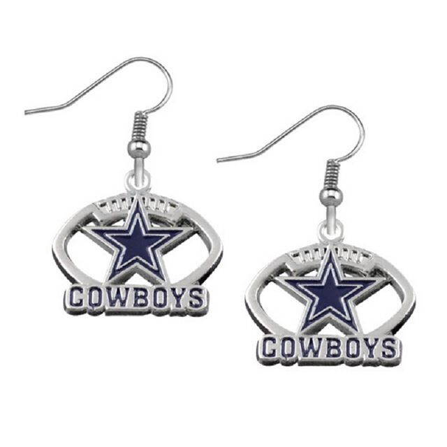 Dallas Cowboys Earrings,  Cowboys Jewelry,  Cowboys Gift, Football Earrings for sale  USA