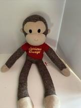 "Schylling Curious George 20"" Stuffed Plush Doll 2011 Sock Monkey Red Shirt - $16.83"