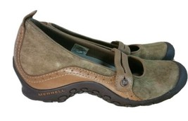 Women's Merrell  Plaza Bandeau Mary Jane Flats  Tan Suede Comfort Shoes SIZE 8 - $34.64