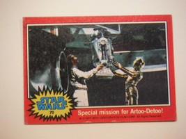 Star Wars Series 2 (Red) Topps 1977 Trading Card # 70 Special Mission for R2-D2 - $1.49