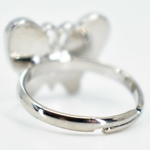 Kid's Fashion Silver Tone Butterfly Color Changing Fashion Adjustable Mood Ring image 2