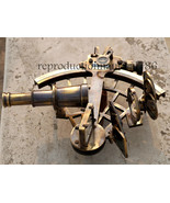 Antique Heavy Brass Astrolabe Sextant With Wooden Box Nautical Gifting S... - $499.00