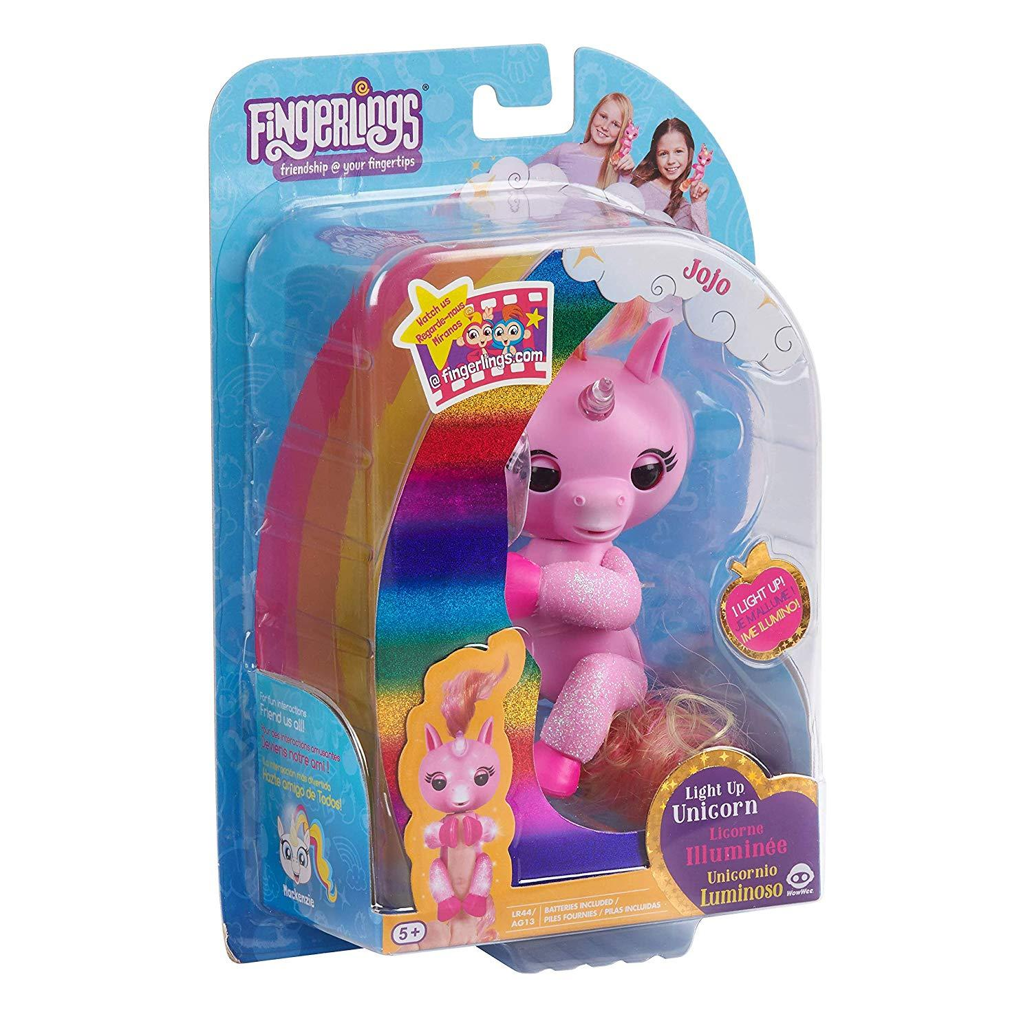 WowWee Fingerlings Light Up Glitter Unicorn, Jojo Interactive Collectible Baby P