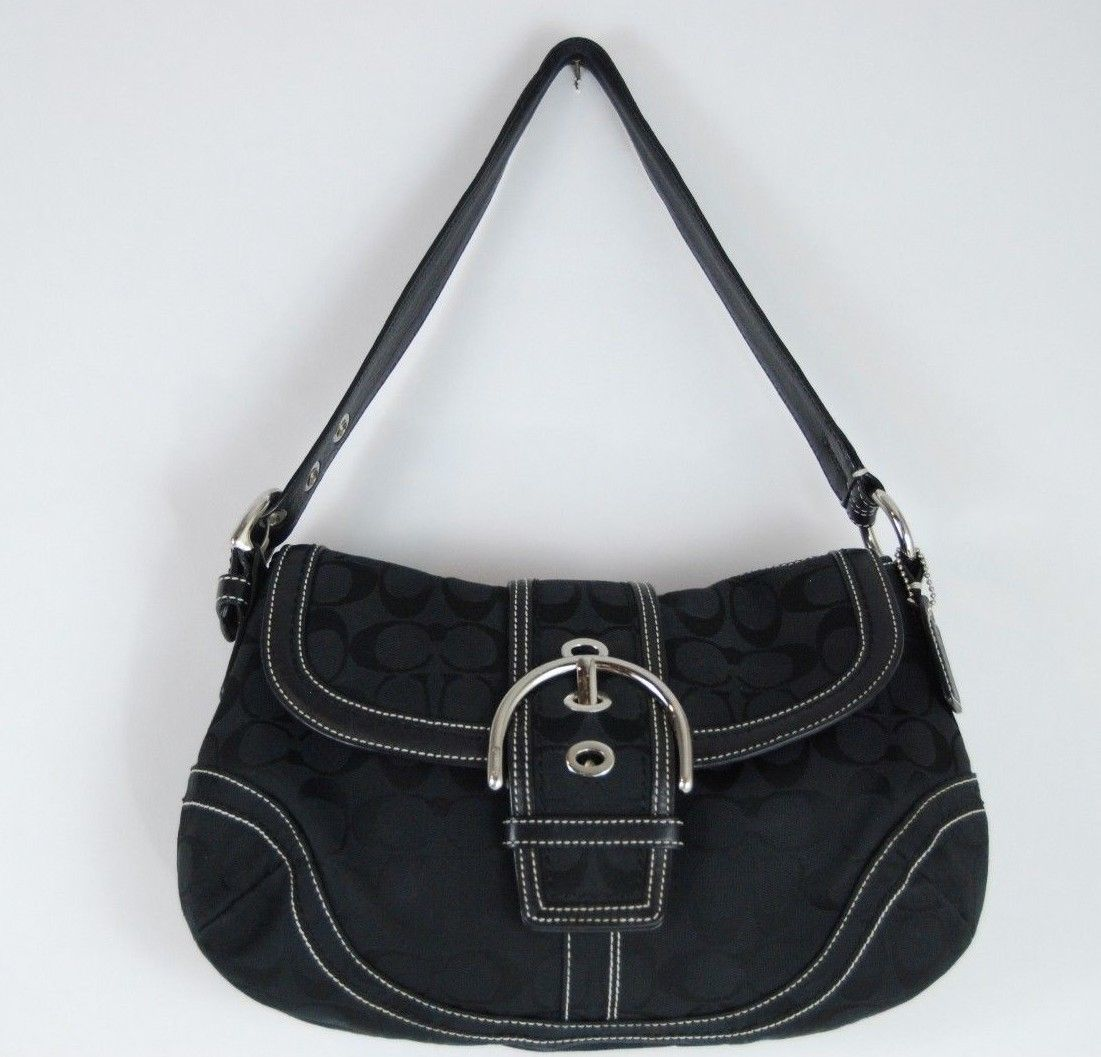 cf28452942fb ... purchase coach soho signature big flap hobo bag c060 10297 64bc0 bf147  buy coach signature coated canvas top handle ...