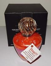 La-Tee-Da Fragrance Effusion Lamp Red Leopard Glass Black Gold Ball Crow... - $39.59