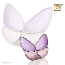 Lavender Butterfly Wings of Hope Keepsake Funeral Cremation Urn, 3 Cubic... - $48.99