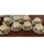 Red Wing Pottery Tampico Pattern TEACUP COFFEE CUP W/SAUCER, 8 Avail, So... - $15.79