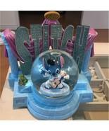 Disney Lilo and Stitch Stitch Snow Globe Music Box Light Elvis Presley V... - $1,468.17