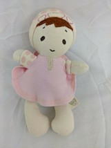 """Baby Gund Naturally Rattle Doll Cloth Plush 7"""" Pink Stuffed Toy - $34.95"""