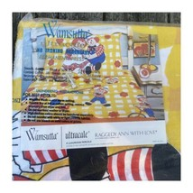 Wamsutta Raggedy Ann With Love NEW Vintage Twin Flat Sheet Andy Ultracal... - $44.55