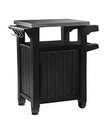 Keter Unity Indoor Outdoor BBQ Entertainment Storage Table/Prep Station ... - $162.94