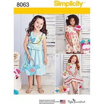 Simplicity Patterns Children's Spring Dresses with Purses Size: A (3-4-5-6-7-8), - $13.48