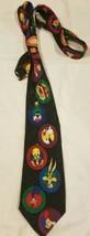 Looney Tunes Mania Neck Tie 90s 1994 Vintage Warner Bros Bugs Daffy Taz Marvin - $19.59