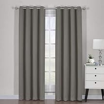 """54""""x84"""" Pair Gray Blackout Weave Curtain Panels with Tie Backs Pair (Set... - $55.44"""