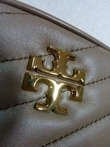 NWT Tory Burch Classic Taupe Kira Chevron Small Camera Bag $358 image 6