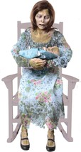 HALLOWEEN LIFE SIZE ANIMATED ROCKING MOLDY MOMMY PROP DECORATION HAUNTED... - $199.99