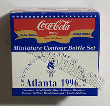 Coke Atlanta 1996 Olympics Games Gold/Silver/Bronze Mini Miniature Coca-cola bot image 9