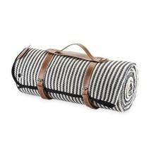 Twine Picnic Blankets, Leather Carrier Folding Waterproof Outdoor Picnic... - $52.99