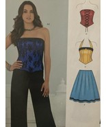 New Look Sewing Pattern 6242 Misses Pants Skirt Corset Top Size 4-16 New - $10.98