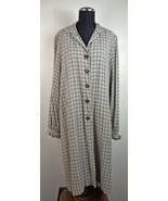 Vintage Styled by Milner Women's All Weather Grey Plaid Button-Front Lon... - $61.70
