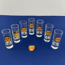Lot of 7 Hard Rock Café Shot Glasses Different Cities & Myrtle Beach HRC... - $29.69