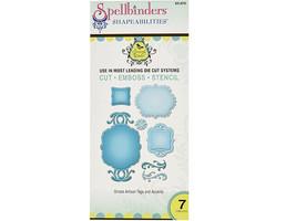 Spellbinders Shapeabilities Ornate Artisan Tags and Accents Dies #S5-070 image 1
