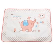60 80CM Baby KeepMeDry Pad Newborn Crib Sheet Infant Mattress Cover ElephantPINK