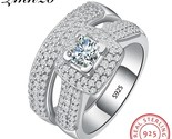 925 sterling silver ring set classic wedding jewelry cubic zircon rings for women thumb155 crop