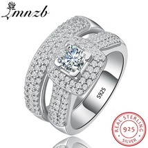LMNZB Promise Original 925 Sterling Silver Ring Set Classic Wedding Jewe... - $25.90