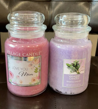 Bundle Yankee Candle Relaxing Lavender & Village Candle Love You Mom - $51.08